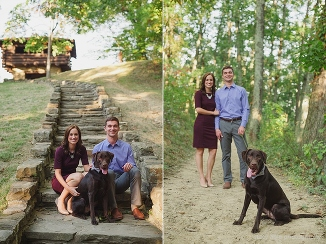 engagement portraits with dogs indianapolis engagement photographer