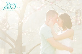 Downtown Indianapolis Spring Engagement Photography