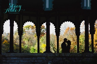 cincinnati eden park fall engagement photography