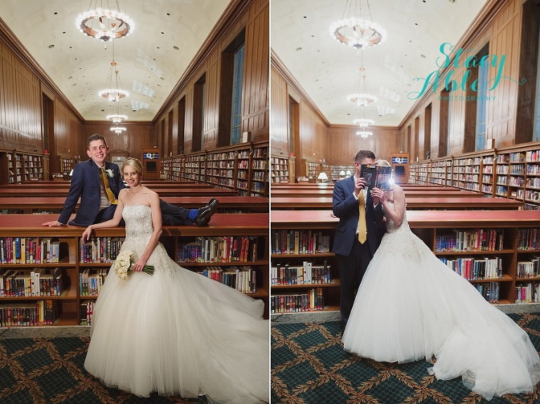 Indianapolis Public Library Winter Pink Ivory And Navy Wedding By Stacy Able Photography Www Stacyable