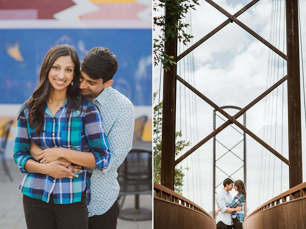 Indianapolis engagement portrait photographer