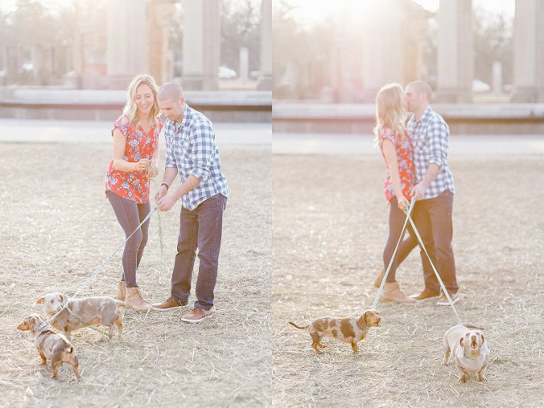 Indianapolis Engagement Portraits With Dogs Indianapolis