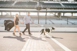 indianapolis motor speedway engagement photography