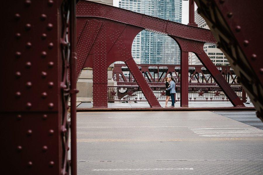 Chicago engagement portraits