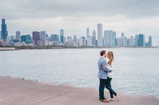 Chicago engagement portraits