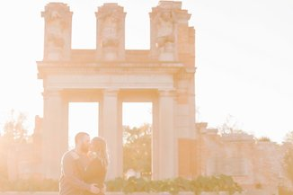 fall Indianapolis locally grown gardens holiday park engagement photography